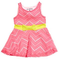 Zig Zag Cut Out Skater Dress (2T-4T)
