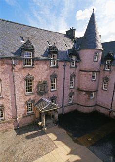 The round turrets and rosy complexion may put you in mind of a Disney castle, but Argyll's Lodging is actually Scotland's most splendid and complete example of a 17th century townhouse.  From Historic Scotland.