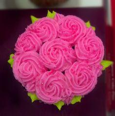 Rosette cupcake Rosette Cupcakes, Rosettes, Flowers, Desserts, Plants, Tailgate Desserts, Deserts, Postres, Dessert