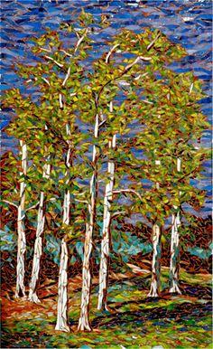 Larissa Strauss - Glass mosaic of Arroyo Verde Park in Ventura. (mosaic at Ventura Museum)