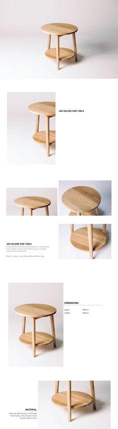 [Oak] Selene Sidetable