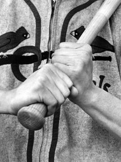 The batting grip of Stan Musial