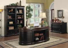 This chic formed Nicolas government home place of business group includes a two-tone end, and lines 7 drawers within the Huge oval government desk, with a keyboard drawer and 2 cabinets. Full extension drawer glides. Huge bookcase options 2 file cabinet drawer