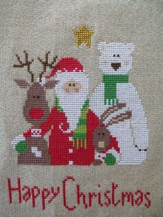Cross Stitch Christmas Ornaments, Xmas Cross Stitch, Christmas Embroidery, Christmas Cross, Cross Stitch Charts, Cross Stitch Designs, Cross Stitching, Cross Stitch Embroidery, Cross Stitch Patterns