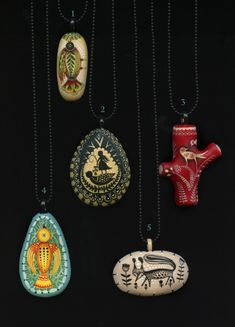 5 art pendants small