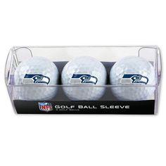Seattle Seahawks Golf Balls - 3 pc sleeve