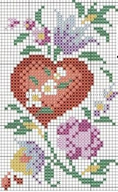 cross stitch by meitiny Just Cross Stitch, Cross Stitch Love, Cross Stitch Needles, Cross Stitch Flowers, Counted Cross Stitch Patterns, Cross Stitch Designs, Cross Stitch Embroidery, Cross Stitching, Blackwork