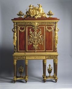 Creator:  Jean-Henri Riesener (1734-1806) (cabinet maker) Creation Date:  c.1787 Materials:  Oak, mahogany, gilt bronze