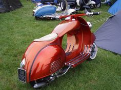 Vespa dreams of being something different...fabulous deco curves...a throw-back to the art deco streamlining era of the 1930s