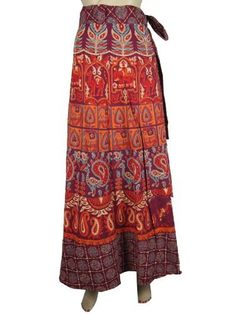 Women Cotton Wrap Around Skirts Bohemian Maroon Animal Paisley Floral Print Long Wrap Skirt Mogul Interior, http://www.amazon.com/dp/B009SI8MR8/ref=cm_sw_r_pi_dp_m6gGqb1G8SN5C