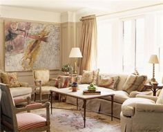 Sunny Traditional Living & Family Room by Barry Goralnick on HomePortfolio