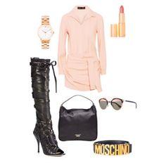 Black leather // soft pinks