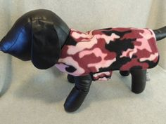 Small L Dog Coat Pink Camo by favorite4paws on Etsy