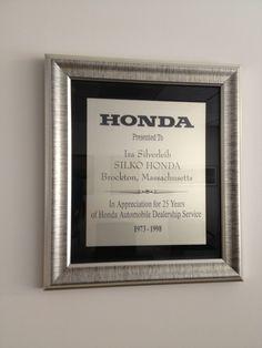 1973-1998: 25 Years of Honda Automobile Dealership Service!