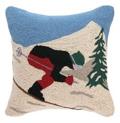 Peking Handicraft Christmas Holiday Ski Hook Pillow