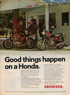 Honda ad from 1974
