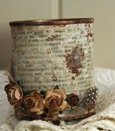 Distressed Can For Decorations