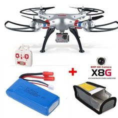 Free Shipping!Syma X8G 2.4G 4CH 6-Axis 8MP Wired HD Camera Headless Mode RC Drone Quadcopter&1 Battery+Fireproof Safety Bag