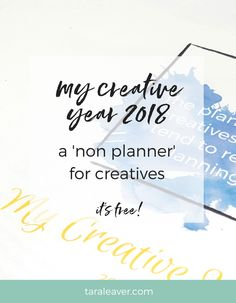 My Creative Year: Free 'non planner' for creatives