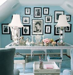 Color Scheme of Tiffany Blue,  White, Black, Crystal Accent