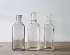 vintage glass bottles for cosmetics - Google Search