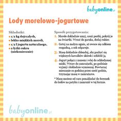 Lody morelowo-jogurtowe Vogue Kids, Cooking With Kids, Fett, Kids And Parenting, Smoothie, Clean Eating, Ice Cream, Wellness, Baby