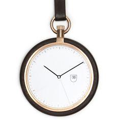 MMT Calendar (walnut/rose gold) watch by MMT. Available at Dezeen Watch Store: www.dezeenwatchstore.com