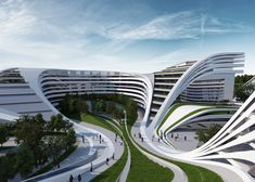 Zaha Hadid Architects has designed a swirling complex of apartments, offices and leisure at an abandoned textile factory in Belgrade, Serbia.