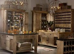 Living Room, Wood Country Kitchen Cabinet Ideas: 20 Imaginative Modern Vintage Living Room Designs by Timothy Oulton Farmhouse Kitchen Interior, Interior Design Kitchen, Country Kitchen, Country Living, Sala Vintage, Vintage Room, Vintage Office, Vintage Style, Home Room Design