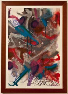 """JONONE,  """"Eponyme""""  Technique Mixte Aquarelle, Acrylique et Pastels.  Paris, 2005."""