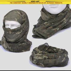 Russian YEGER Woodland Camo Tactical Mesh Scarf Wrap Mask Shemagh Sniper Veil in Collectibles, Militaria, Surplus   eBay