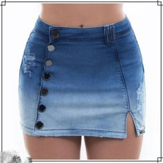 Cute Outfits With Shorts, Jean Skirt Outfits, Short Outfits, Jean Skirts, Modest Outfits, Summer Outfits, Diy Ripped Jeans, Sexy Jeans, Denim Fashion