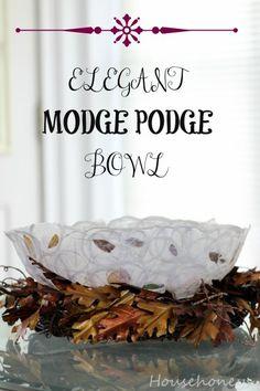 modge podge DIY Bowl, #ModPodge #DIYCraft