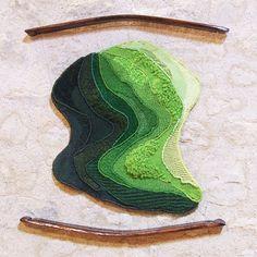 Rizière  80 x 90 cm Tapisserie de haute lice
