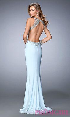 09cf226c1e4805 Image of open-back embellished floor-length Gigi prom dress Style  LF-