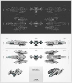EQUINOX - space ship concept (for EVE online make a spaceship compo)