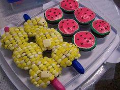 cute cupcake ideas for bbq shower