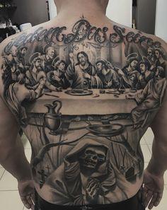Tattoo Aleksandr Pavlov - tattoo's photo In the style Black and grey, Male, Religious, Skul Cholo Tattoo, Chicano Tattoos Sleeve, Forearm Sleeve Tattoos, Best Sleeve Tattoos, Leg Tattoos, Religious Tattoos For Men, Religious Tattoo Sleeves, Christ Tattoo, Jesus Tattoo