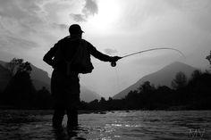 """Fly fishing in italy """"Gesso della regina"""" river"""