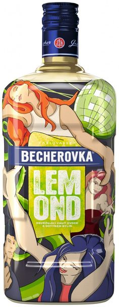 Packaging of the World: Creative Package Design Archive and Gallery: Becherovka Lemond Art Edition