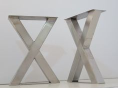 Metal Bench Legs, Coffee Table Legs X-frame Bench Legs, Height To Bench Legs, X Bench, Narrow Console Table, Powder Coat Colors, Coffee Table Legs, One Bedroom Apartment, Design Projects, Stainless Steel, Metal