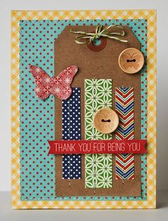 Thank You For Being You Card by Pam Brown via Jillibean Soup Blog