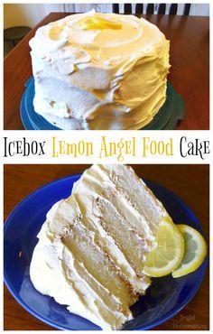 Icebox Lemon Angel Food Cake - delicious, light and lemon!