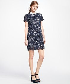 Brooks Brothers Cotton-Blend Lace Dress $138