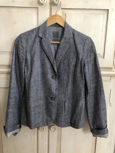 7fe0cf3a48c11 Gap Womens Chambray Blazer In Size 2  fashion  clothing  shoes  accessories