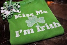 Running With Glitter: Stenciled Glitter St. Patrick's Day Shirt Tutorial