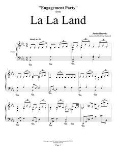 La La Land - Engagement Party - Justin Hurwitz | Piano Plateau Sheet Music