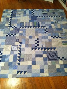 Cozy Quilt made from recycled men's shirts