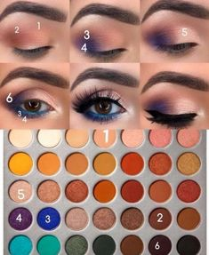 Makeup look using the Morphe Jaclyn Hill Eyeshadow Palette. Makeup look using the Morphe Jaclyn Hill Eyeshadow Palette. Make Up Kits, Make Up Geek, Eye Makeup Steps, Makeup Eye Looks, Make Up Palette, Paleta Morphe, Kim Kardashian Selfie, Jaclyn Hill Eyeshadow Palette, Morphe Palette