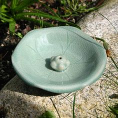 Celadon Incense Holder 'Lotus Leaf', Zen Tea Store Online